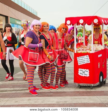 Corralejo - March 17: Dressed-up Participants,