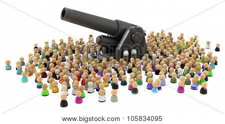 Cartoon Crowd, Artillery