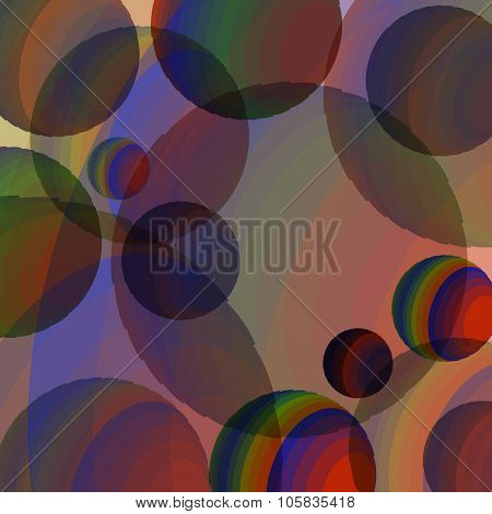 Abstraction of colored spheres