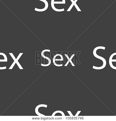 Safe Love Sign Icon. Safe Sex Symbol. Seamless Pattern On A Gray Background. Vector
