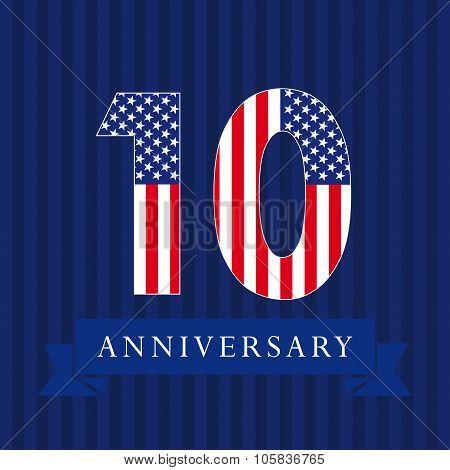 10 anniversary USA logo.