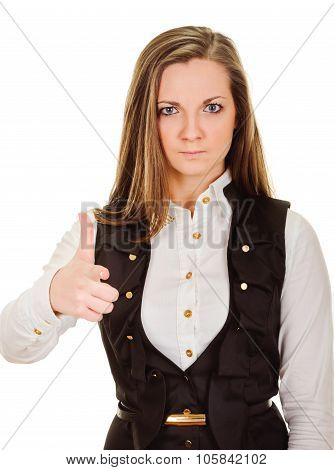 serious woman pointing her finger at you