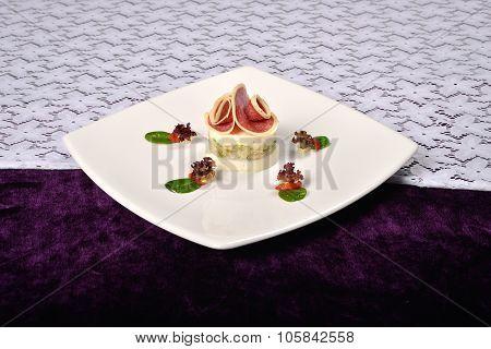 Aspic Turkey Breast With Gorgonzola Cheese, Lettuce, Basil, Restaurant Menu