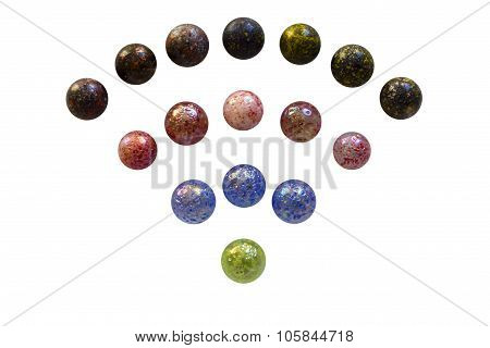 Wifi glass marbles isolated