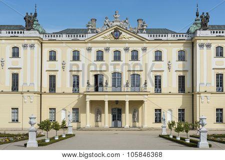 Facade Of  Branicki Palace In Bialystok, Poland