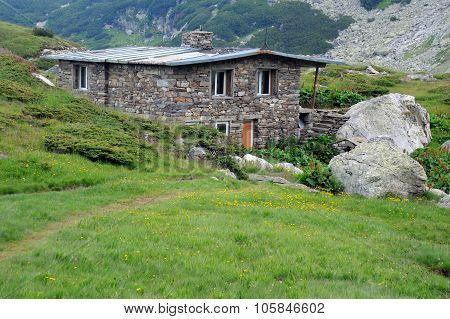 House In The Rila Mountains In Bulgaria