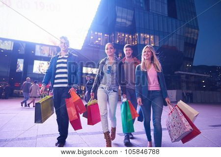 Group Of Friends Enjoying Shopping Trip Together