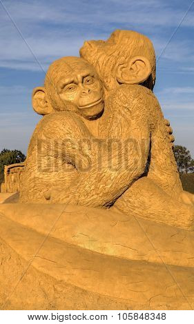 BURGAS, BULGARIA - OCTOBER 04: Sand sculpture in Burgas Sand Sculptures Festival on OCTOBER 04, 2015
