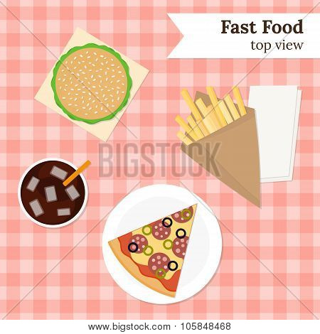 Junk food illustration.
