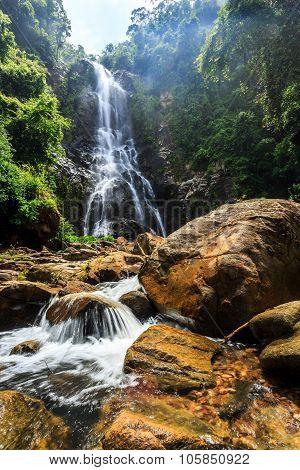 Sunanta Waterfall In Khao Nan National Park