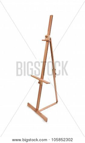 Wooden Painter Easel Isolated On White