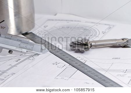 Templates For Visual Measurement Control Are On The Drawing Pipe Element