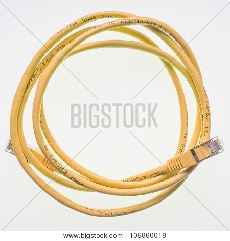 Lan Cable With Rj45 Plug