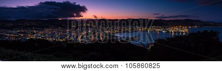 Dusk Wellington City