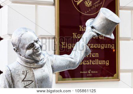 Cast Iron Statue Of Schoner Naci In Bratislava
