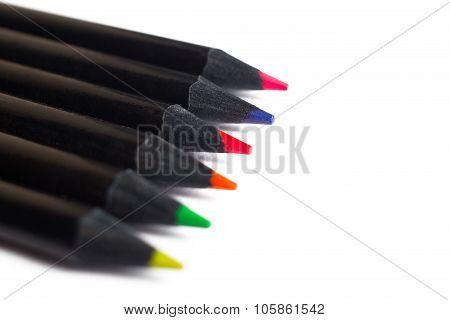 Black pencil om white background