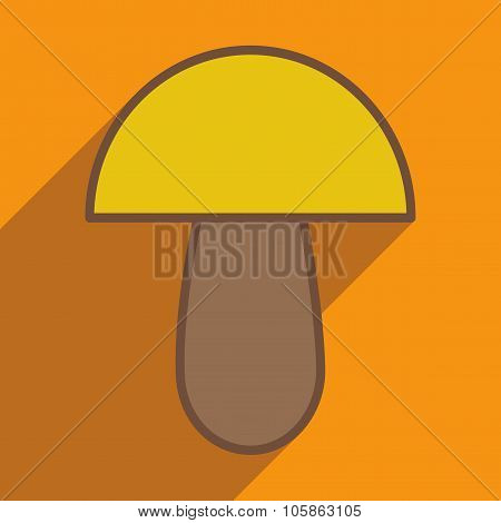 Flat with shadow icon and mobile application porcini