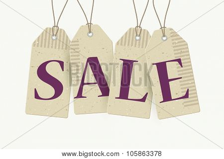 Sale paper tags, vector illustration