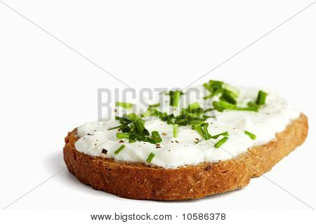 Herbal Bread With Curd And Chives