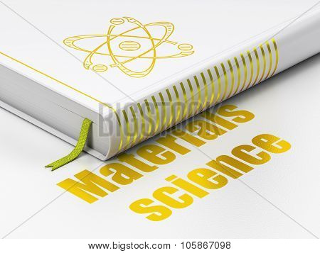 Science concept: book Molecule, Materials Science on white background