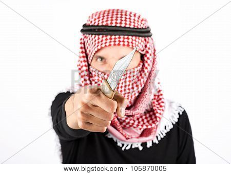 Islamic terrorist with knife