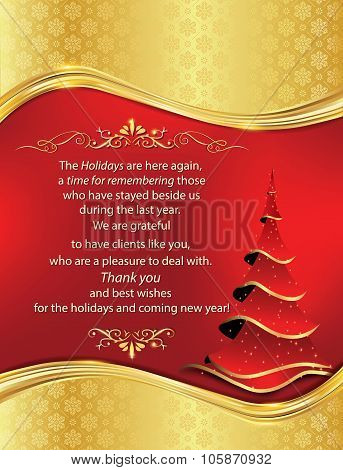 Thank You New Year business greeting card