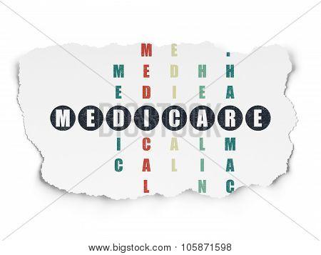 Healthcare concept: Medicare in Crossword Puzzle
