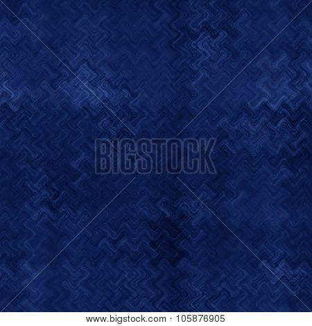 Blue Wave Distortion Effect On Black Background
