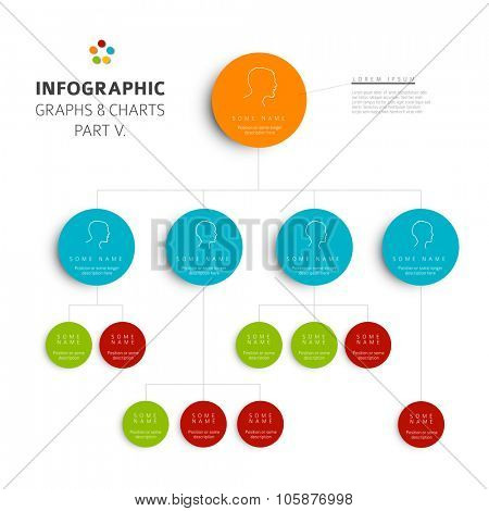 Set of vector flat design infographics hierarchy diagram - part 5 of my infographic budndle