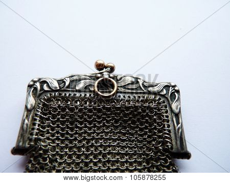 art nouveau mistletoe purse french antique christmas