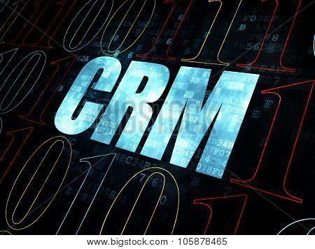 Business concept: CRM on Digital background