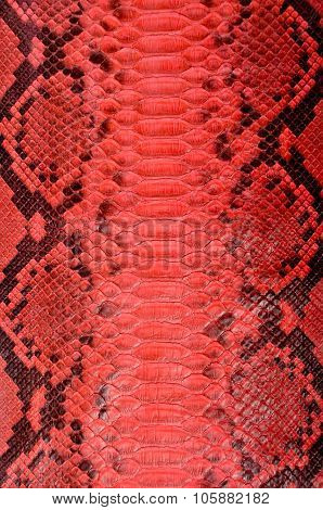 Red python leather
