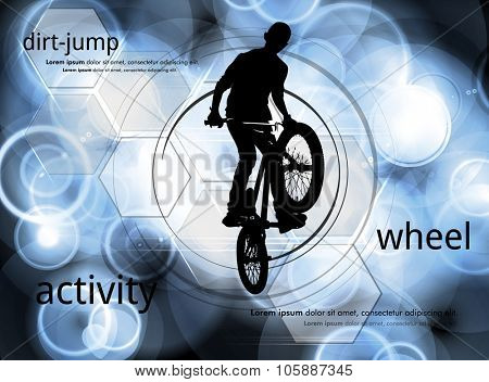 BMX cyclist, vector