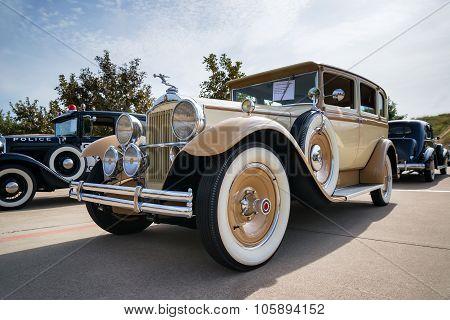 Brown And Yellow 1930 Packard Model 726 Sedan Classic Car