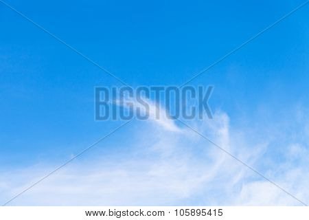 Blue Sky With Light White Clouds Over Bratislava