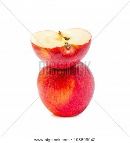 Apple red overlap isolated on white background