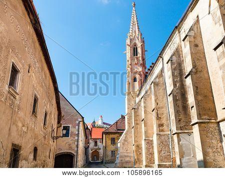 Medieval Houses On Farska Street In Bratislava