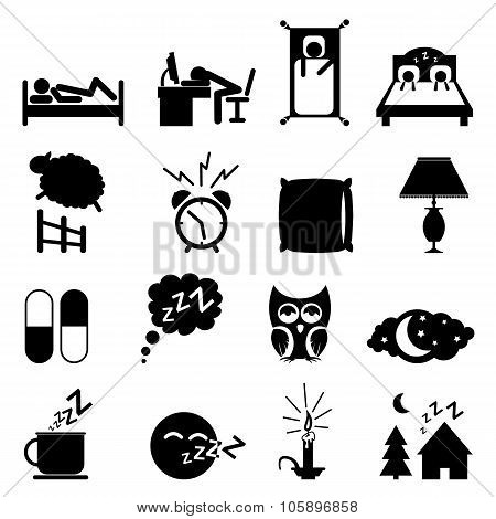 Sleep icons. Sleep icons vector. Sleep icons illustration. Sleep icons set. Sleep icons collection. Sleep icons black. Sleep icons simple. Sleep icons isolated. Sleep set. Sleep set vector