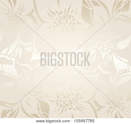 Ecru floral decorative holiday background