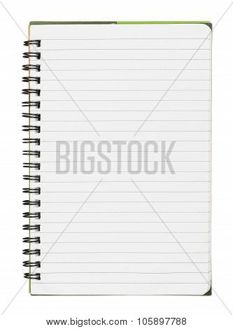 Copybook on white
