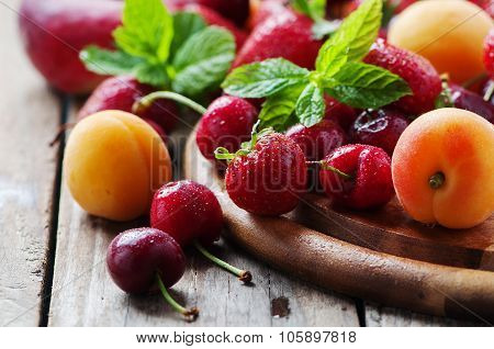 Concept Of Healthy Vegan Dessert with fruit