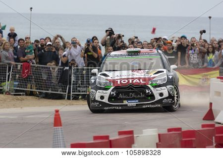 Salou, Spain. October 24: Car participating in the Rally of Spain, part of WRC 2015