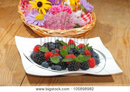 Blueberries, Raspberries, Blackberries