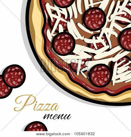 Menu For Pizzeria