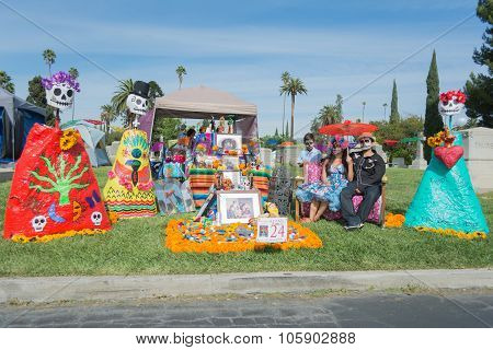 Traditional Mexican Altar Installation.