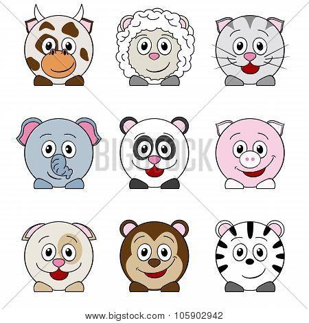 Cow, Sheep, Cat, Elephant, Panda, Pig, Dog, Monkey, Zebra
