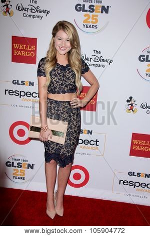 LOS ANGELES - OCT 23:  Brooke Sorenson at the 2015 GLSEN Respect Awards at the Beverly Wilshire Hotel on October 23, 2015 in Beverly Hills, CA