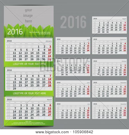 calendar 2016 - Planner