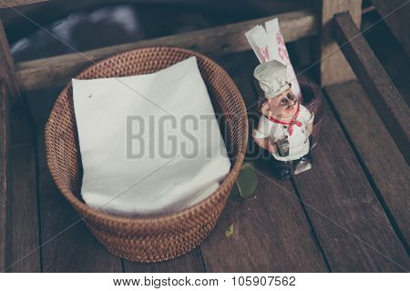 Paper Napkin and Toothpicks