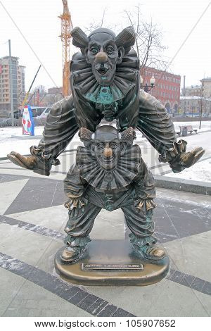 Tsvetnoy Boulevard. Sculpture Clowns